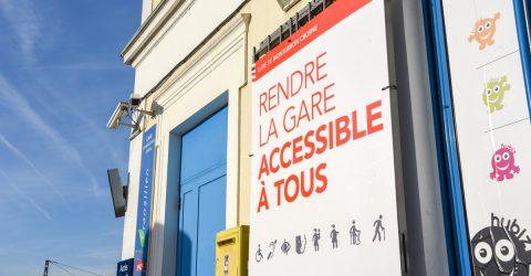 Travaux d'accessibilité à la gare